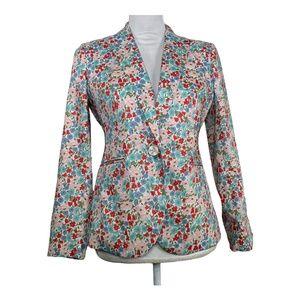 J. Crew Womens Blazer Petites Size 4P Floral Print